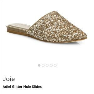 Well loved Joie glitter mules size 38.5